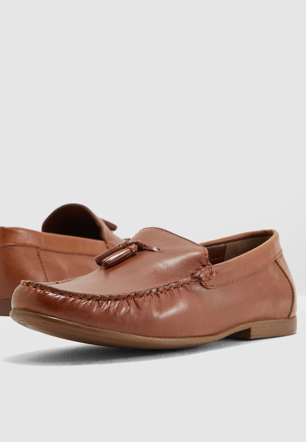 3b6b55c8261 Shop Topman Brown Tassel Loafers 76Q82NTAN for Men in Bahrain - 18832SH96QKP