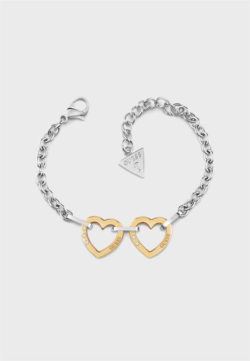 Chain Two Hearts Bracelet