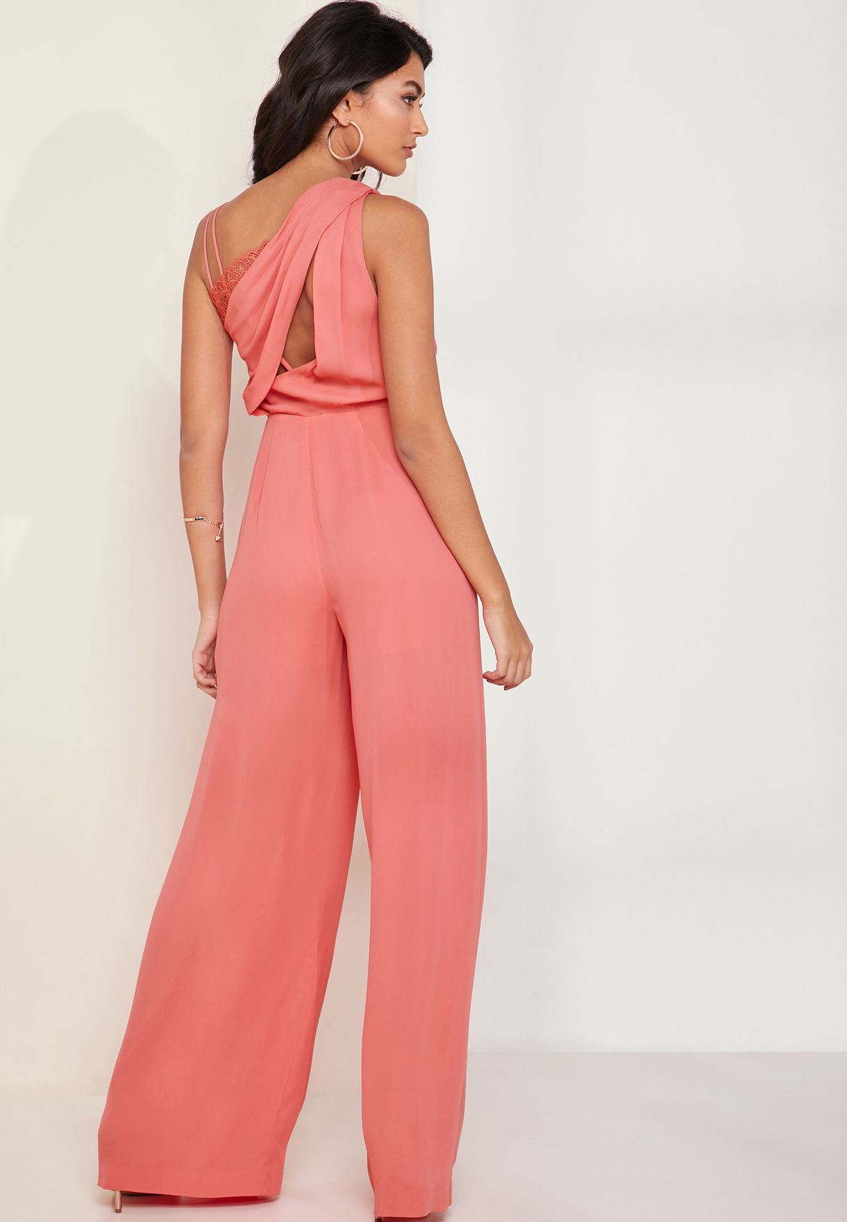 Polly Wide Leg Pleated Jumpsuit