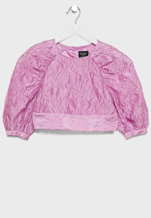 Kids Puff Sleeve Top
