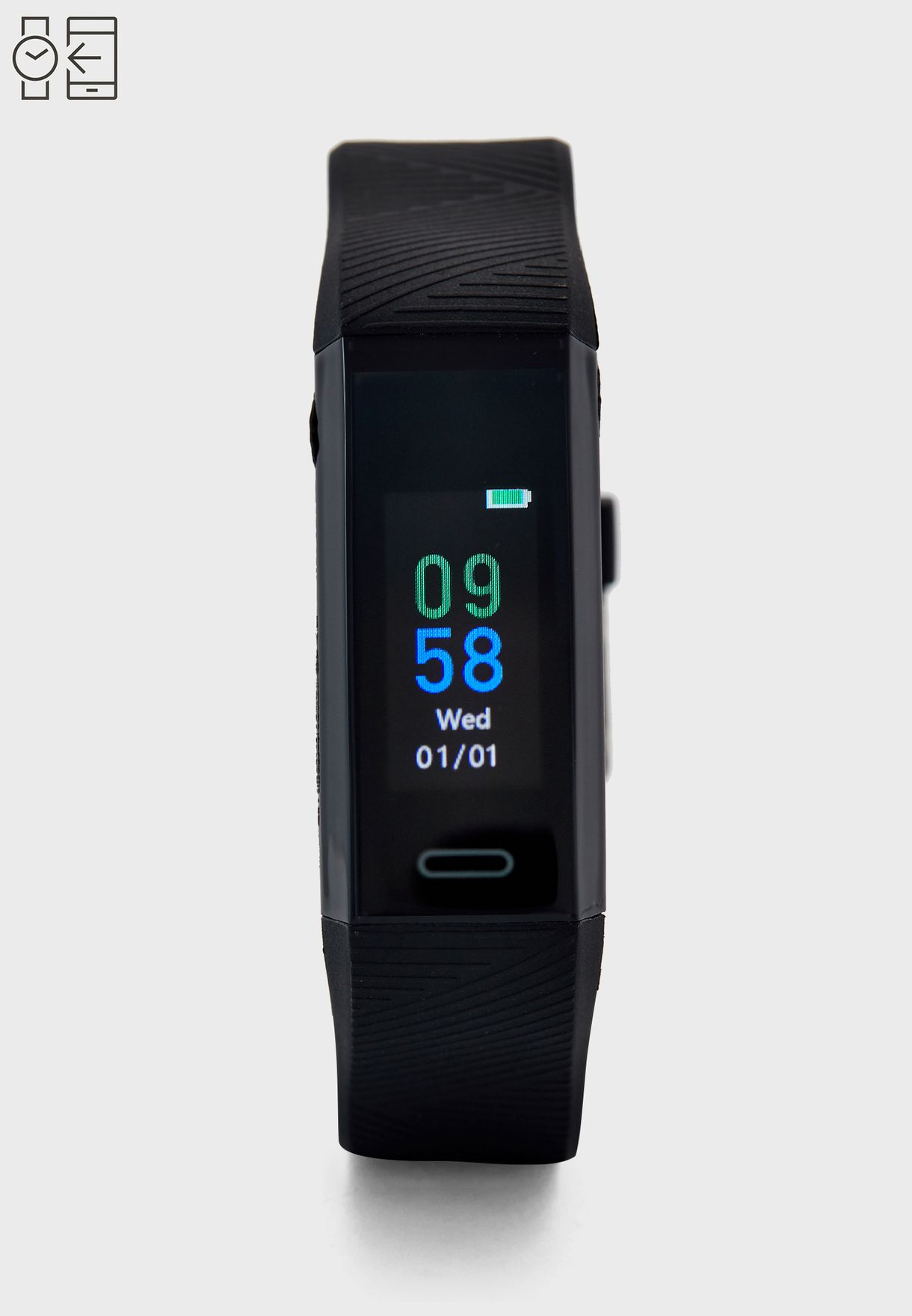 Smart Bracelet With Heart Rate Sensor And Temperate Measure