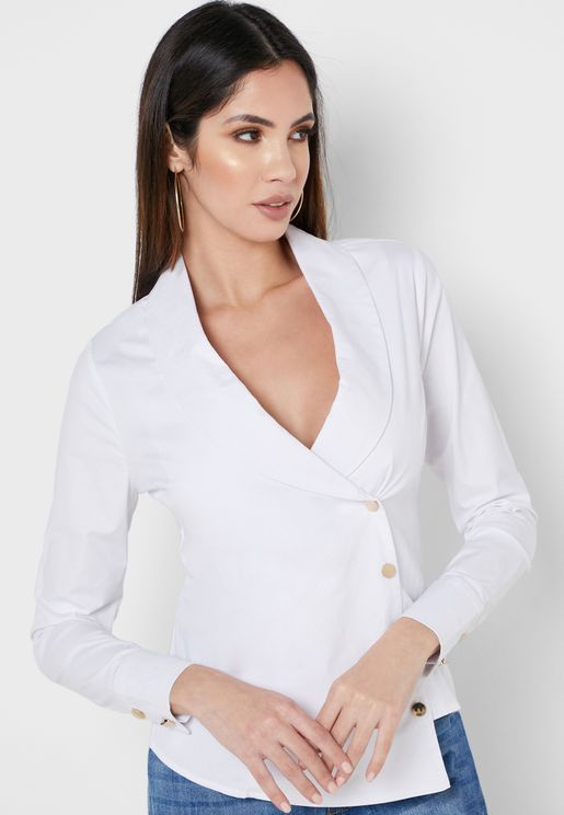 Asymmetric Wrap Shirt