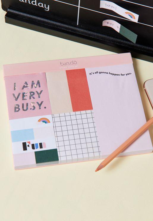 I Am Very Busy Sticky Note Set