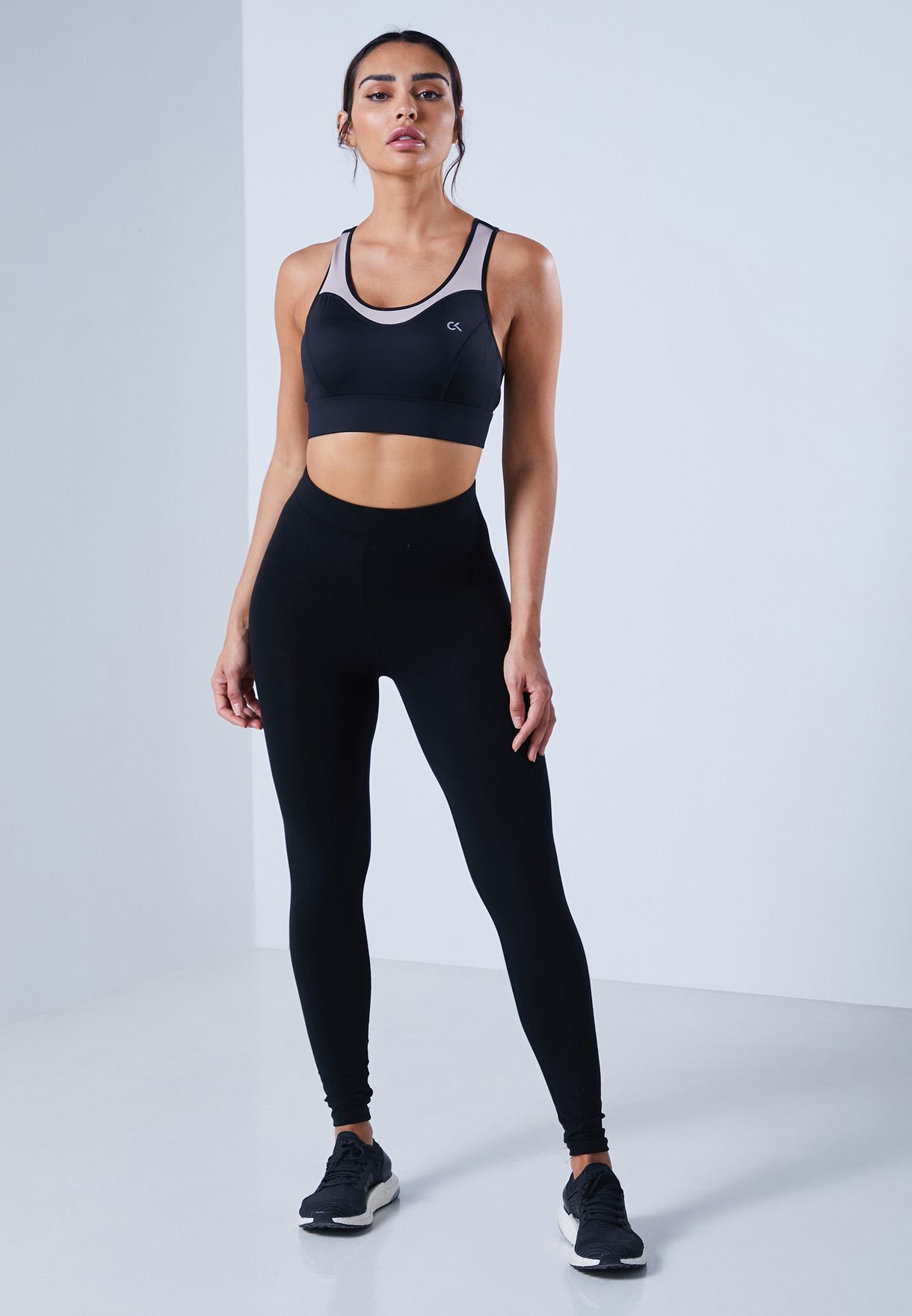 Logo Band High Support Bra