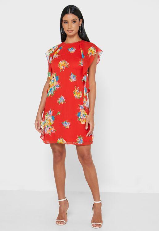 Riviera Floral Print Dress