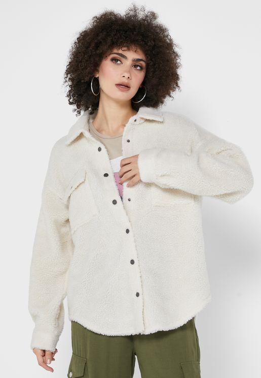 Button Detail Long Jacket