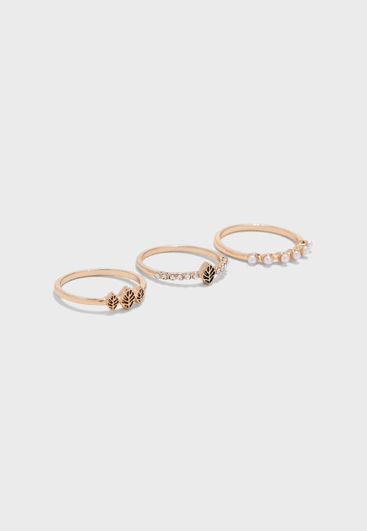 Pearly Rings Set