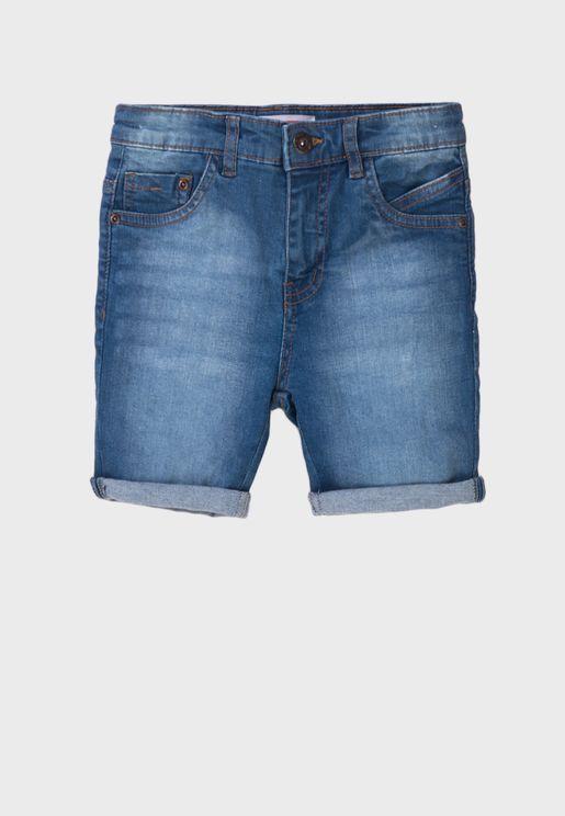 Kids Basic Denim Shorts