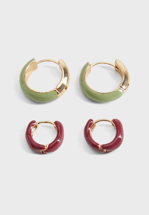 Sofias Hoop Earrings Set