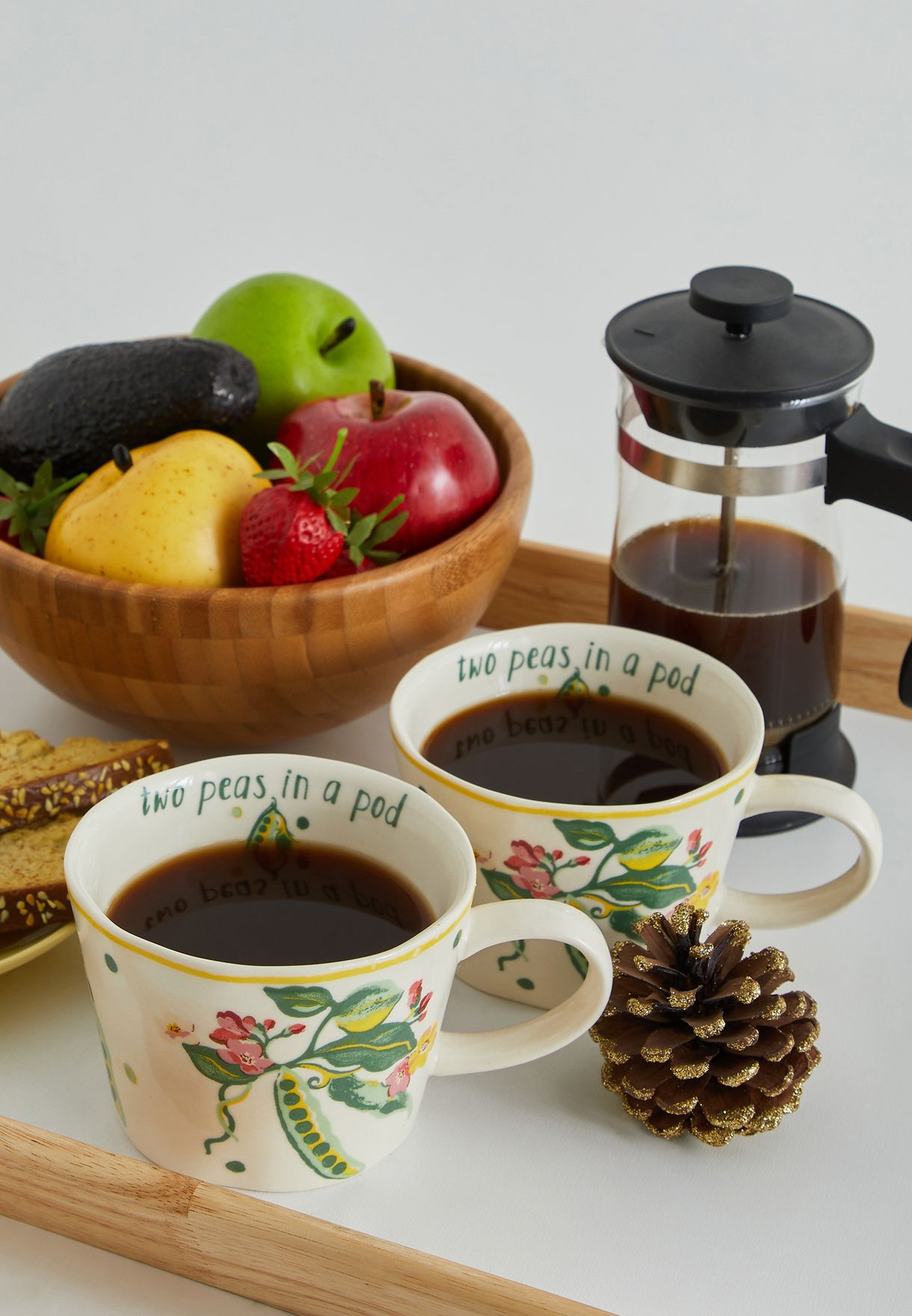 Set of 2 Organic Mugs