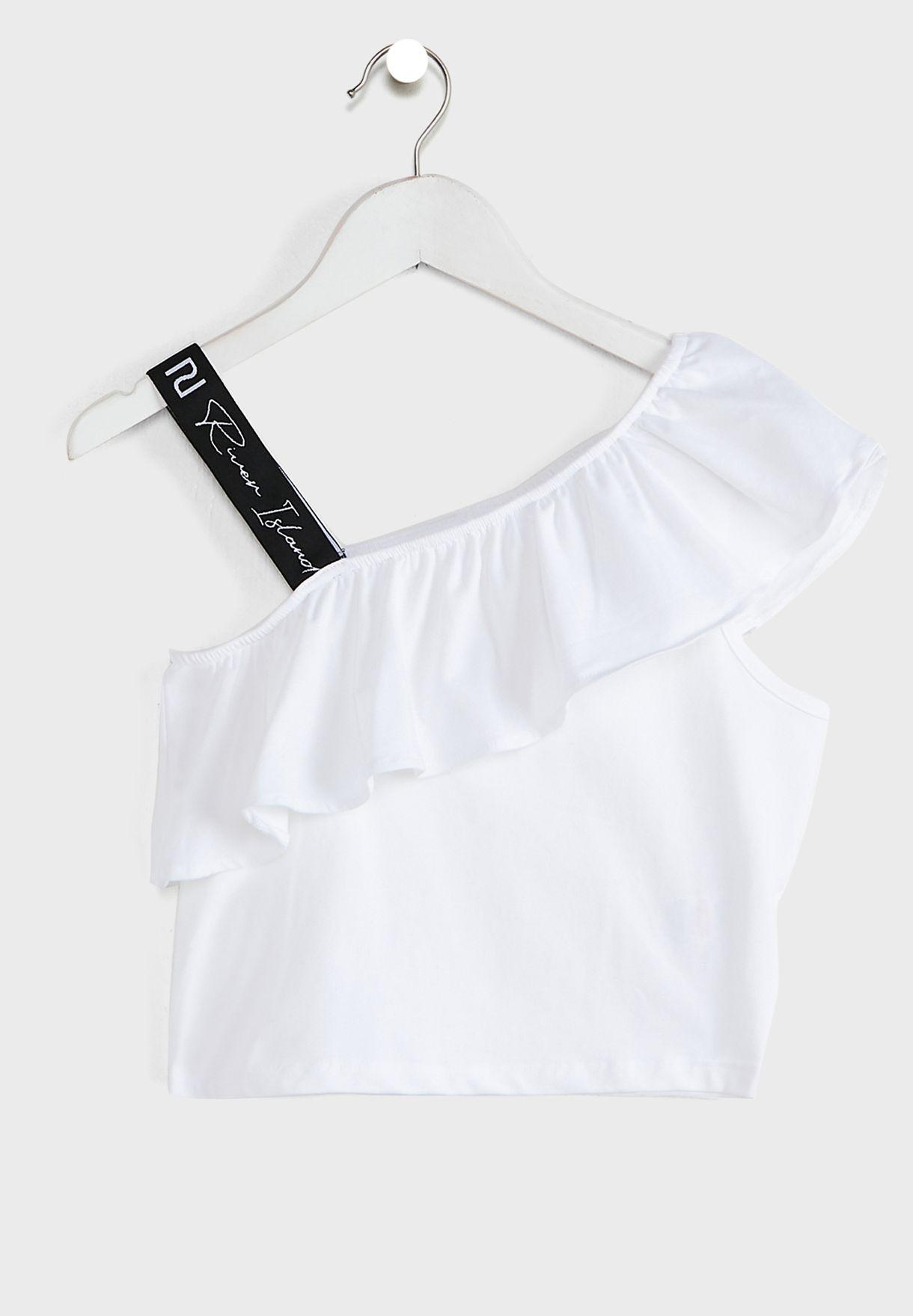 Girls Strap Shoulder Crop Top