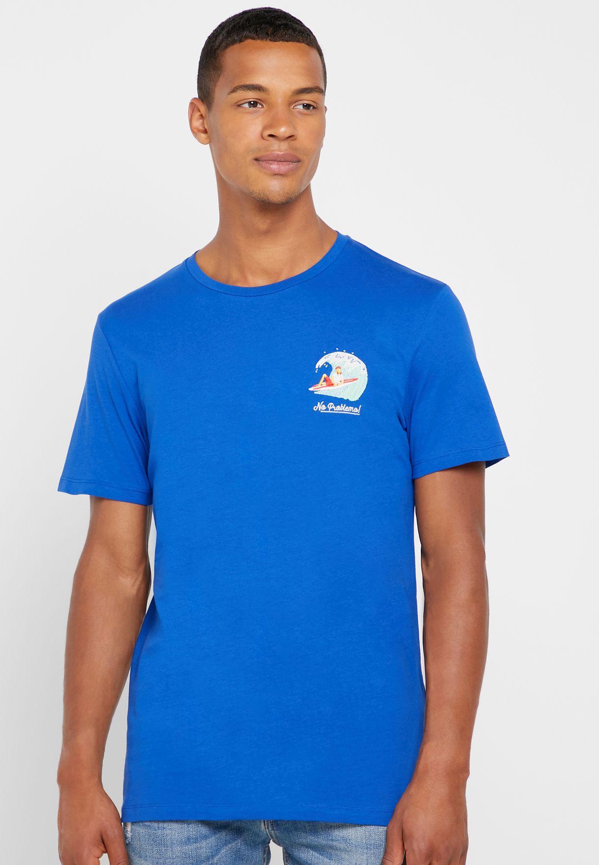 No Problemo Print Crew Neck T-Shirt