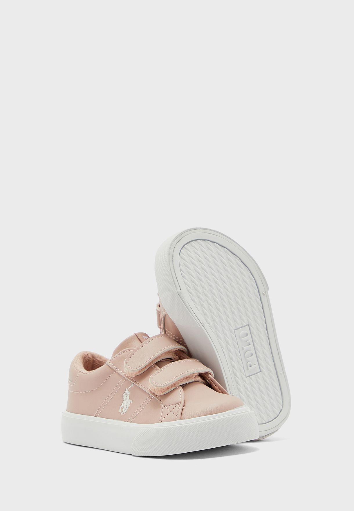 Infant Logo Double Strap Sneaker