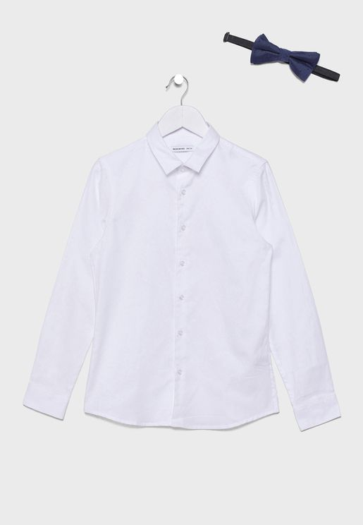 Kids Bow Tie Detail Shirt