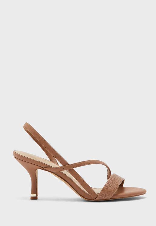 Bonnardel Ankle Strap Mid Heel Sandal