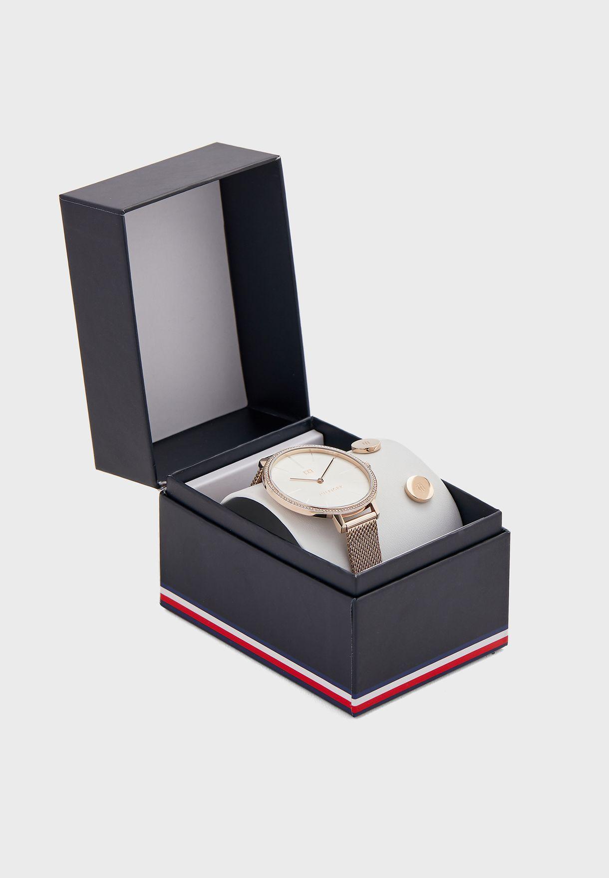 Kelly Analog Watch+Earrings Gift Set
