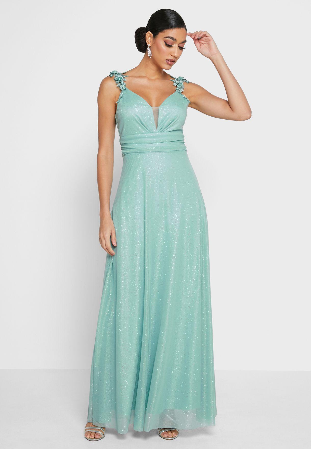 Shimmer Tule Dress