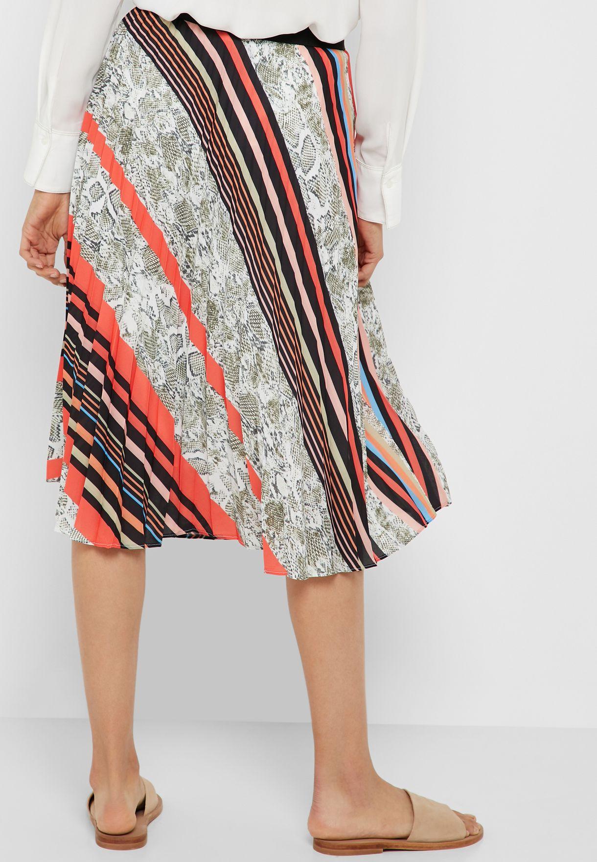 Prints Pleated Skirt