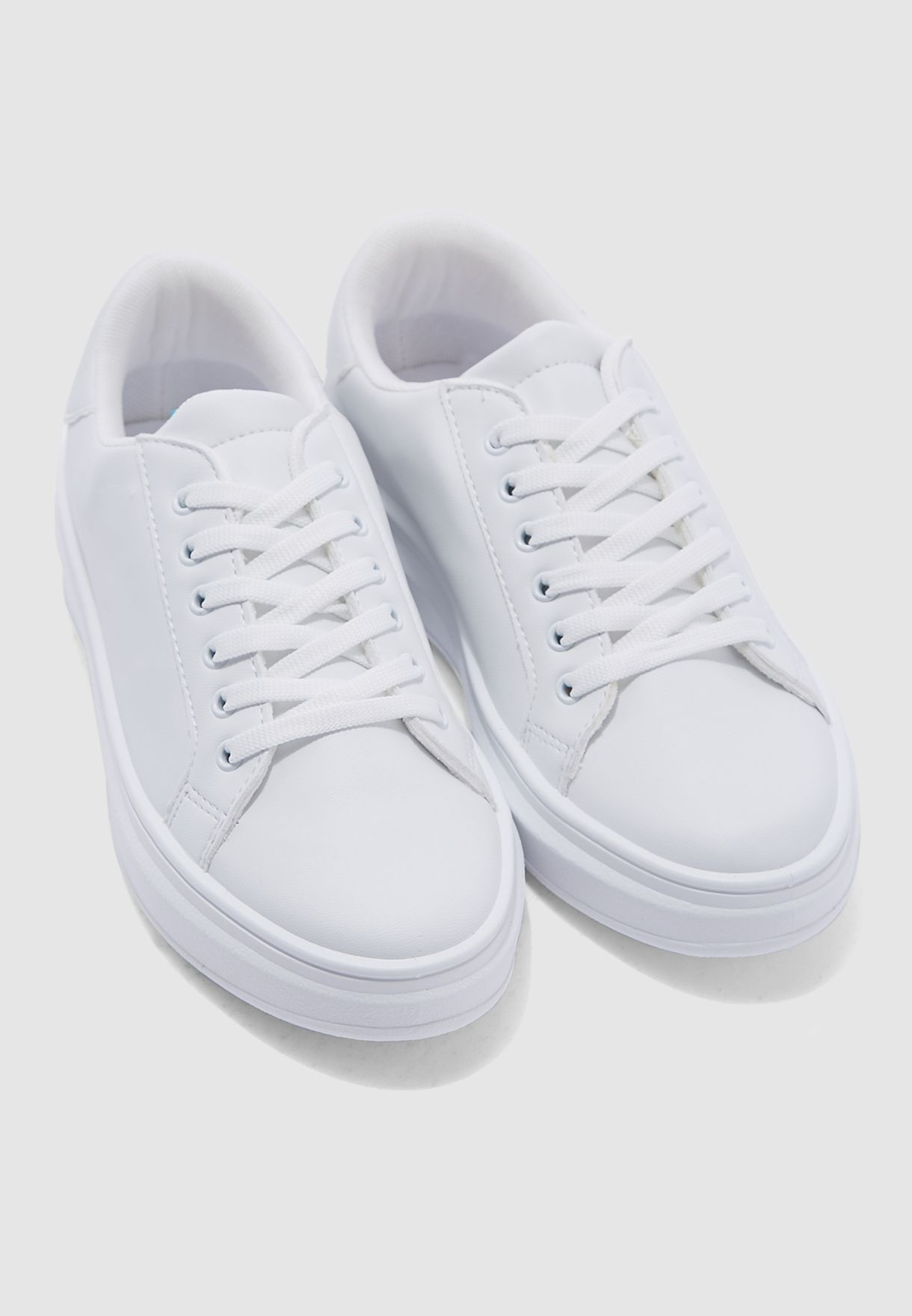 Buy Topshop white Cuba Lace Up Trainers