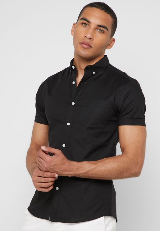 Stretch Skinny Oxford Shirt