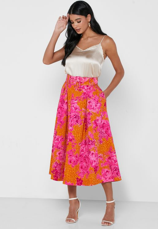 Jenday Metropolis Printed Full Skirt