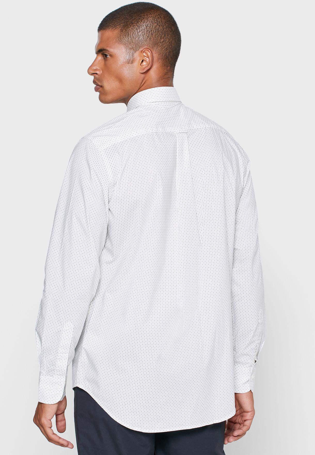 Geo Print Regular Fit Shirt
