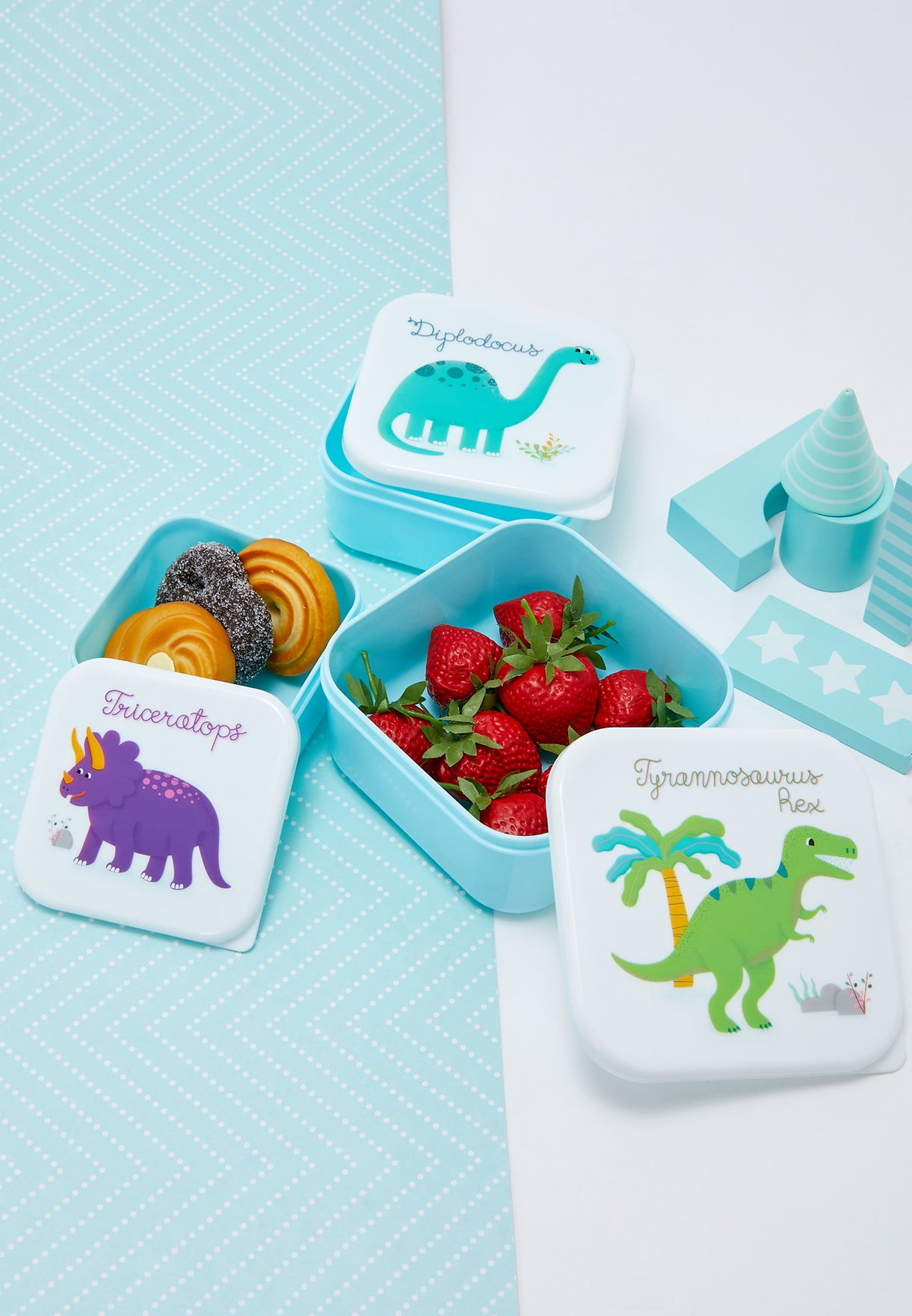 3 Pack Roarsome Dinosaur Lunch Boxes