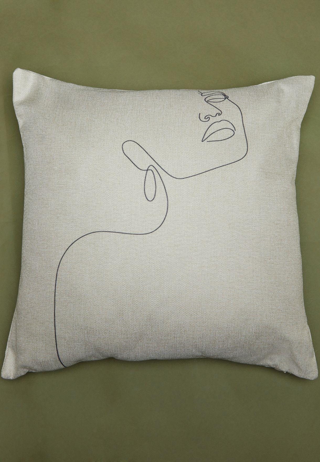 Illustration Print Cushion With Insert 45cm x 45cm