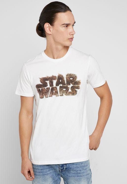 Star Wars Wookiee Logo Crew Neck T-Shirt