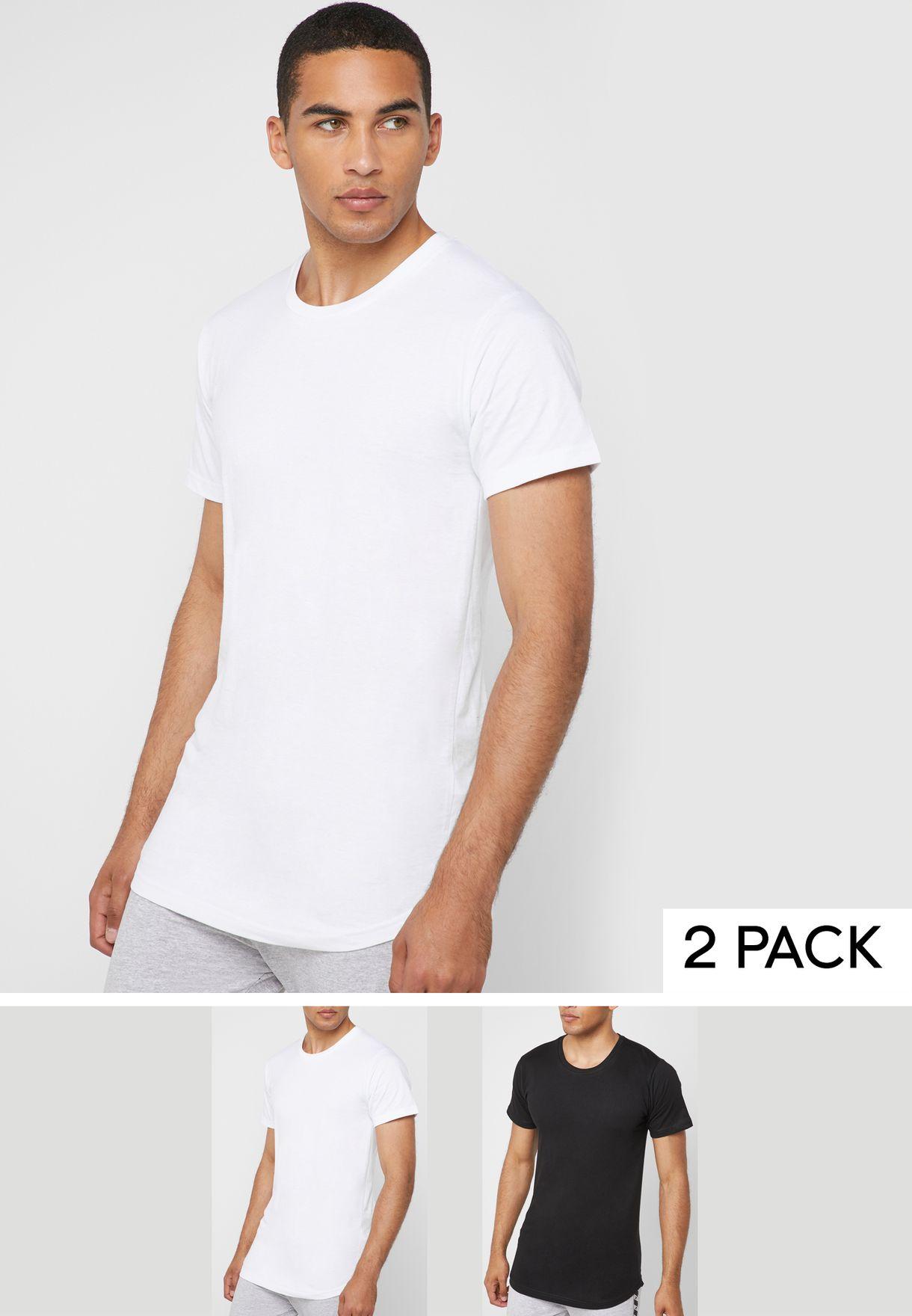 af7f84d7 Shop Fifteen Minutes multicolor 2 Pack Longline T-Shirts LL-Tshirt ...