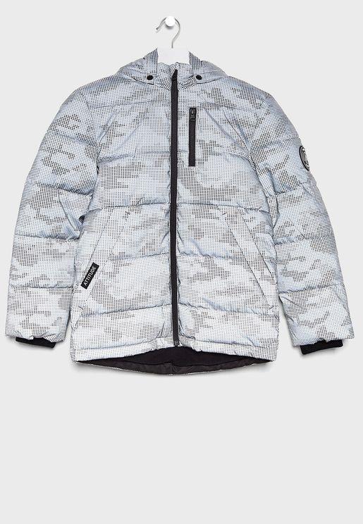 Kids Monsoon Reflective Puffer Jacket