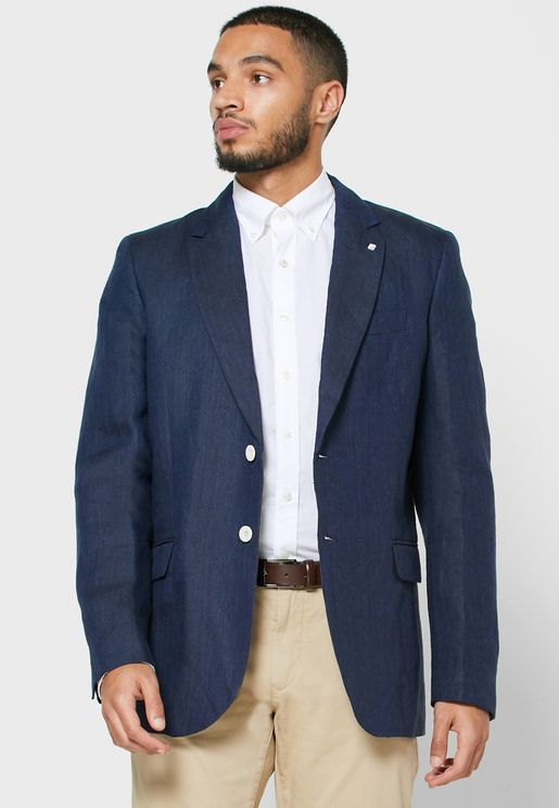 Herringbone Slim Fit Blazer
