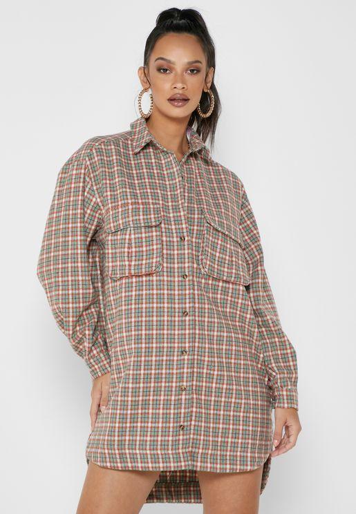 فستان ميني مربعات