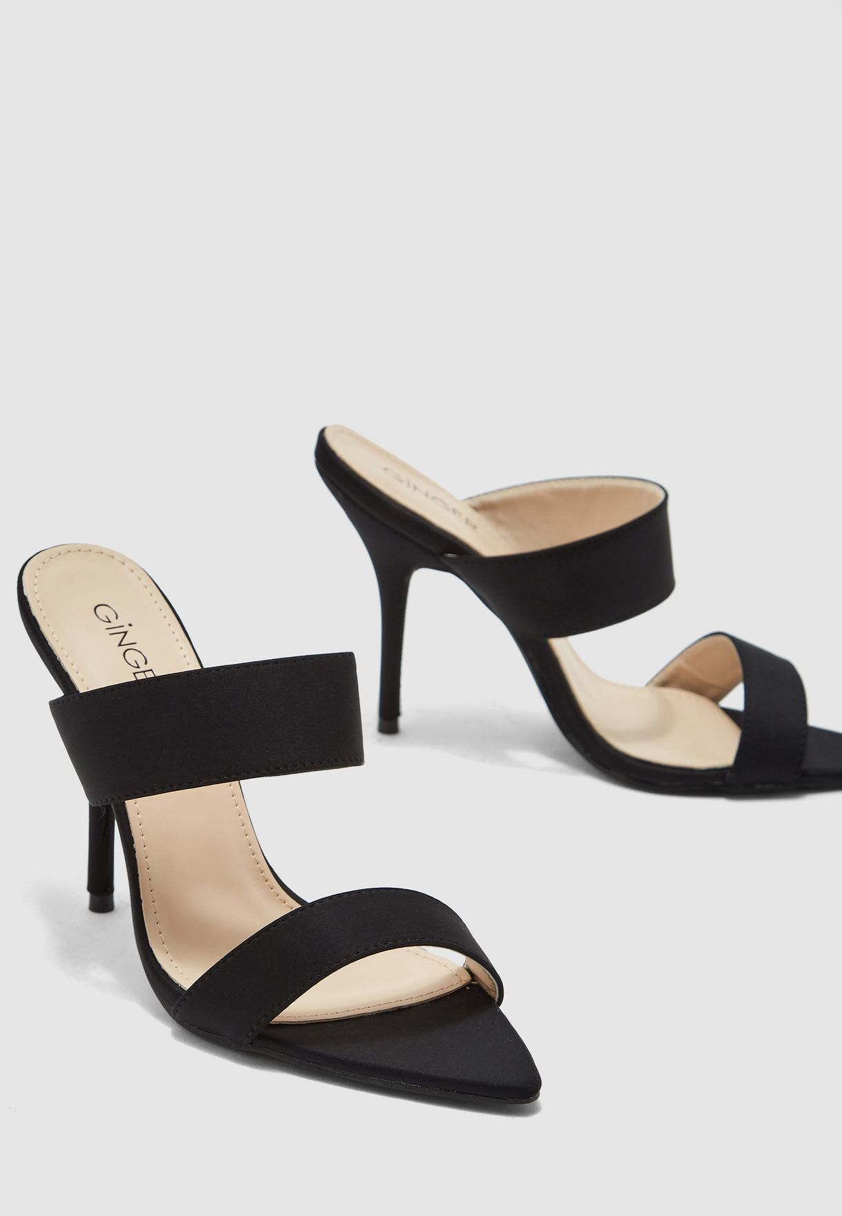 Mule Sandals With Double Strap