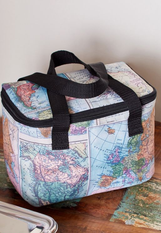 Map Print Lunch Bag