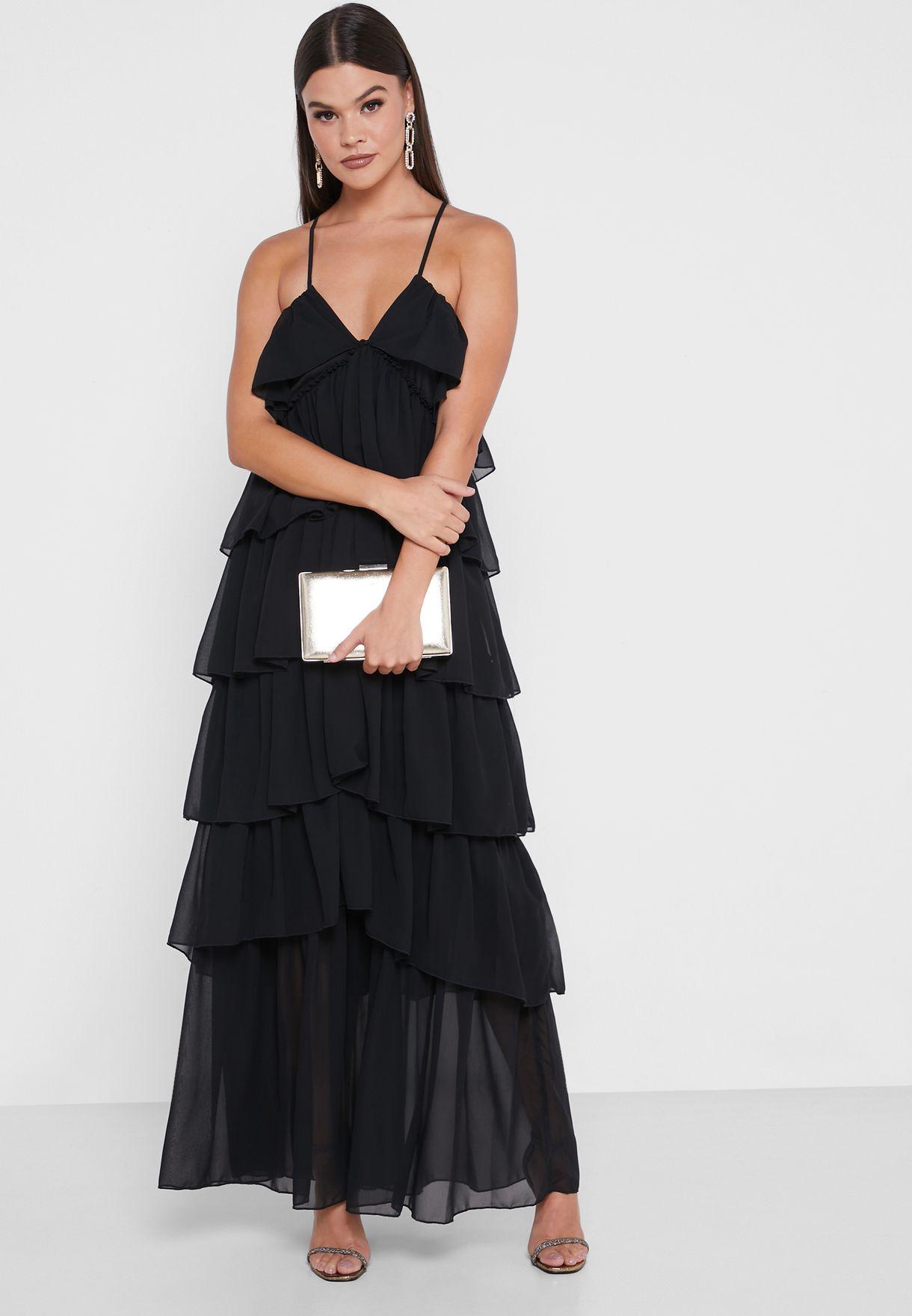 Ruffled Layered Dress