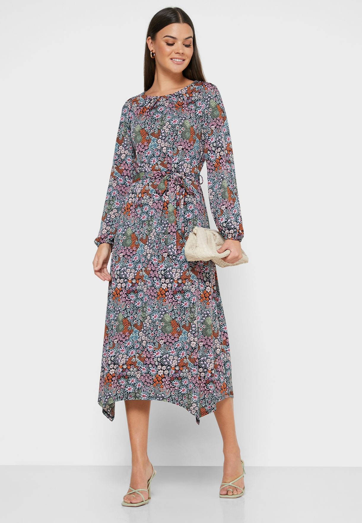 Floral Print Sleeve Dress