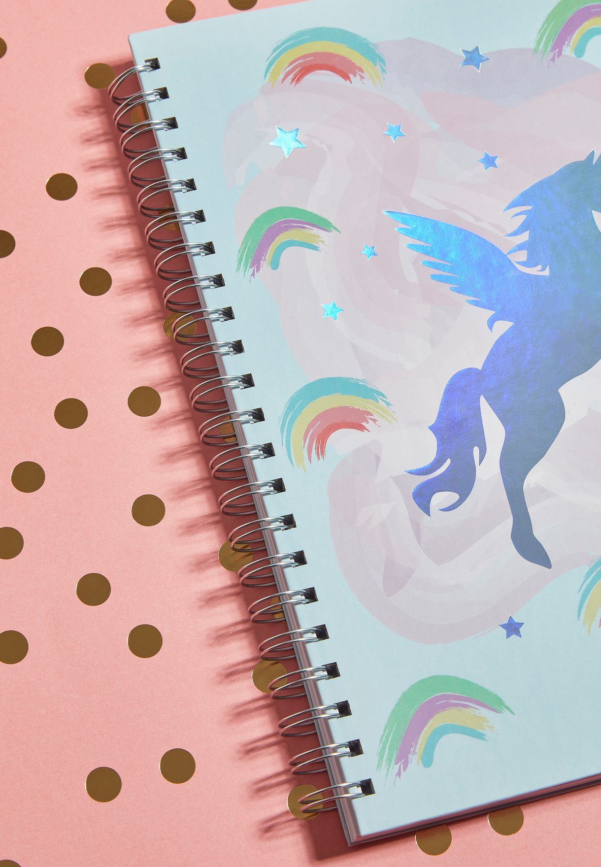 A4 Unicorn and Rainbows Notebook