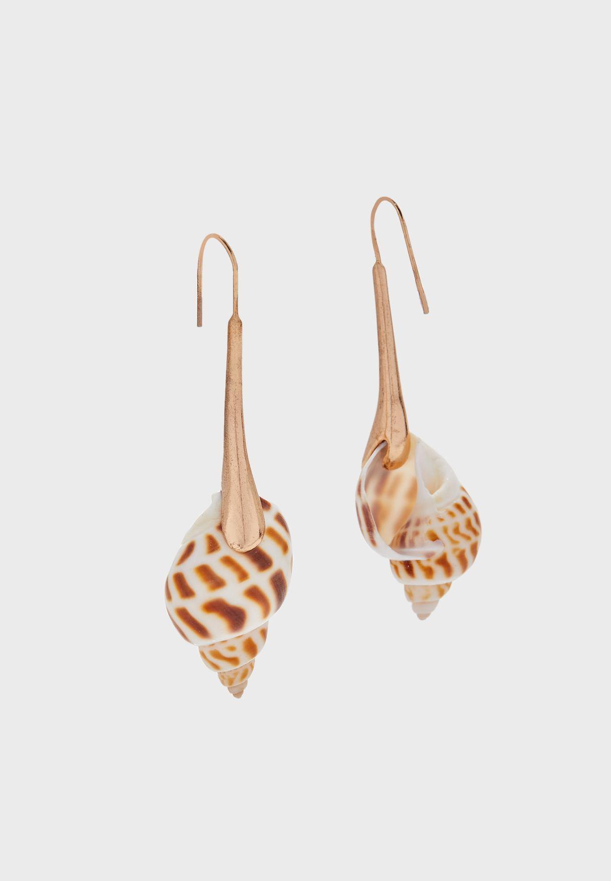 Simone Shell Pendant Earrings