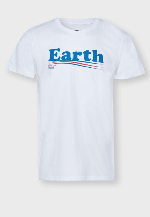 Vote Earth Crew Neck T-Shirt