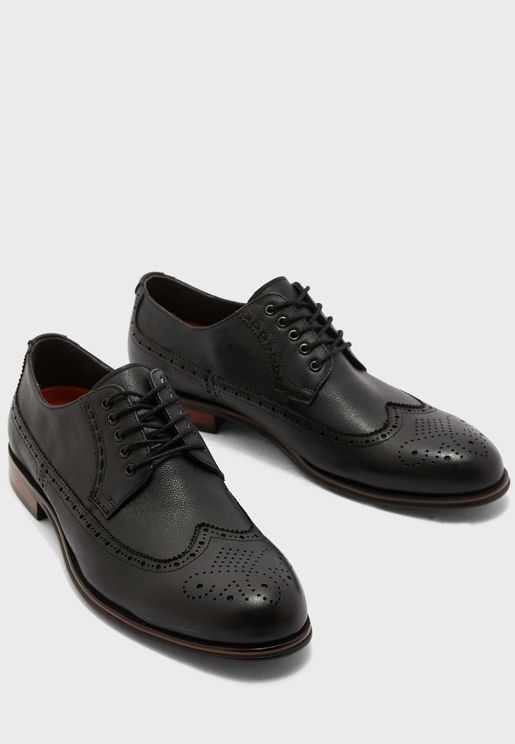 حذاء بروغ جلد اصلي