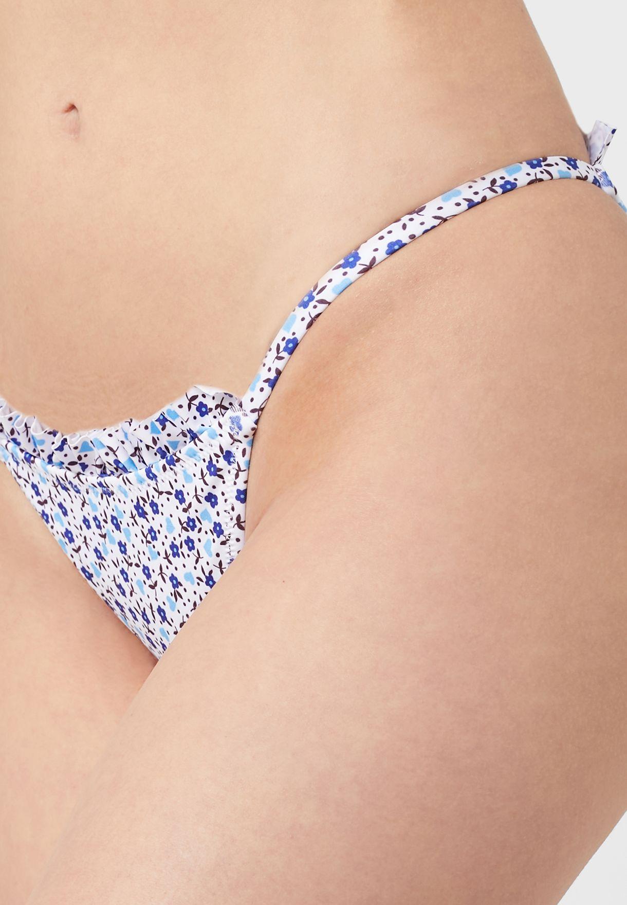 سروال بكيني بطباعة زهور