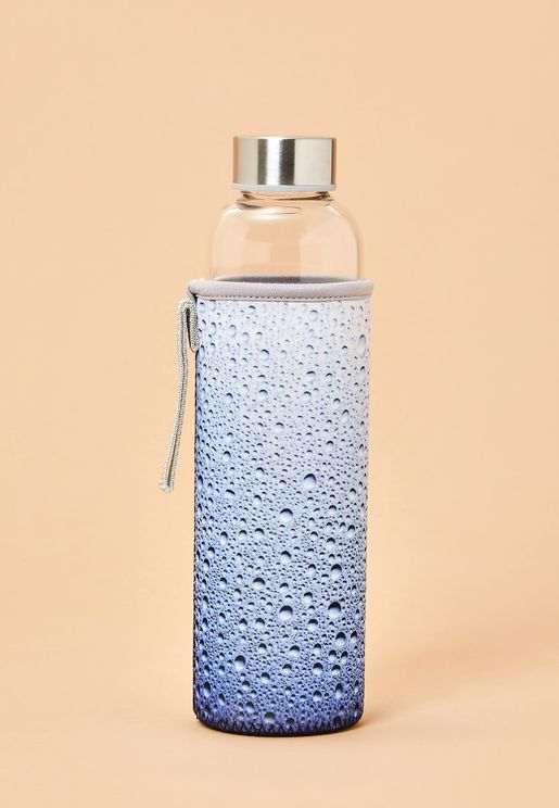 Water Glass Bottle With Sleeve