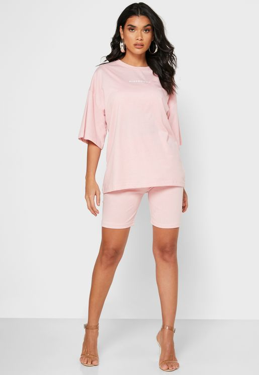 Oversized T-Shirt & Shorts Set