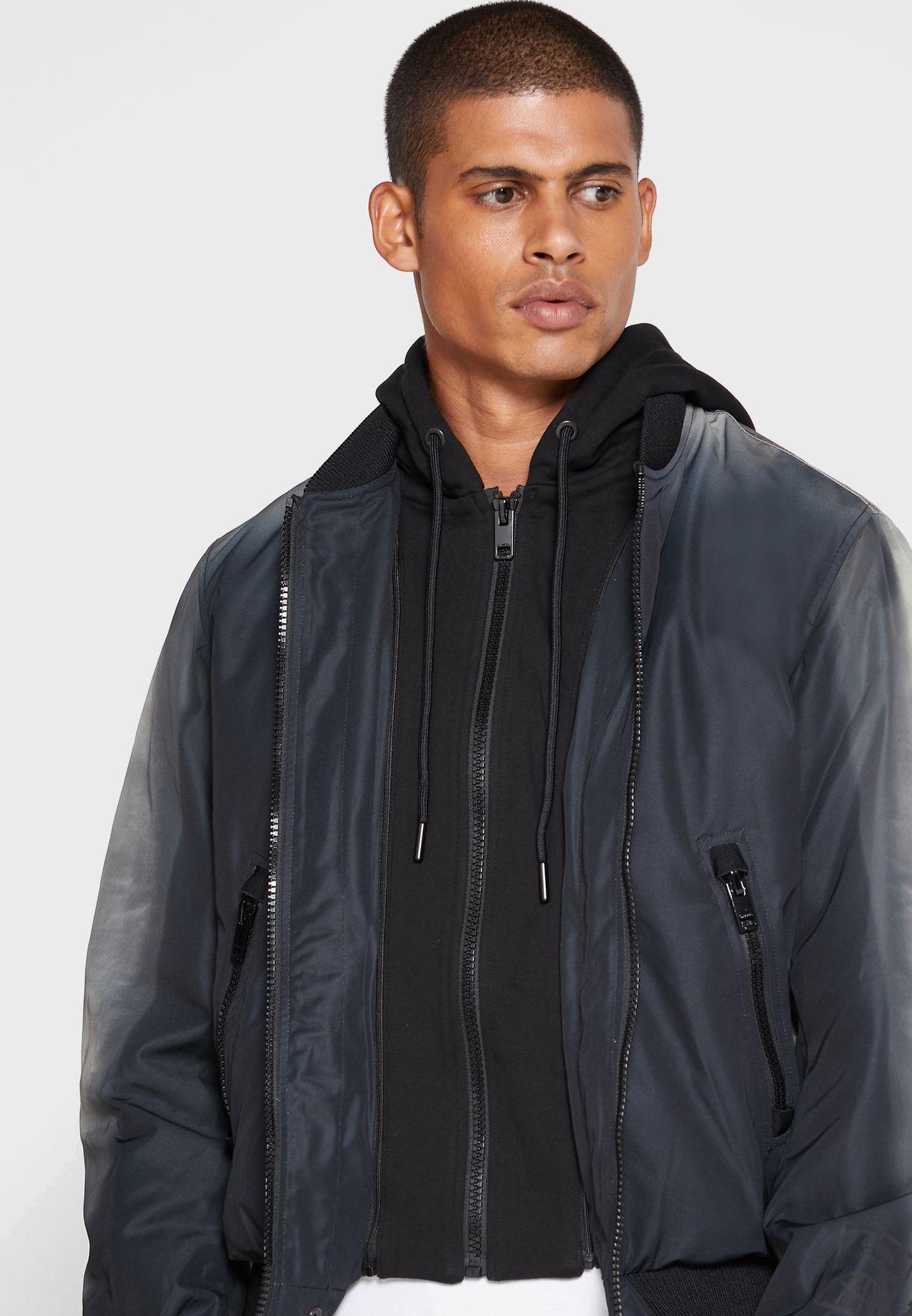 Detachable Layer Bomber Jacket