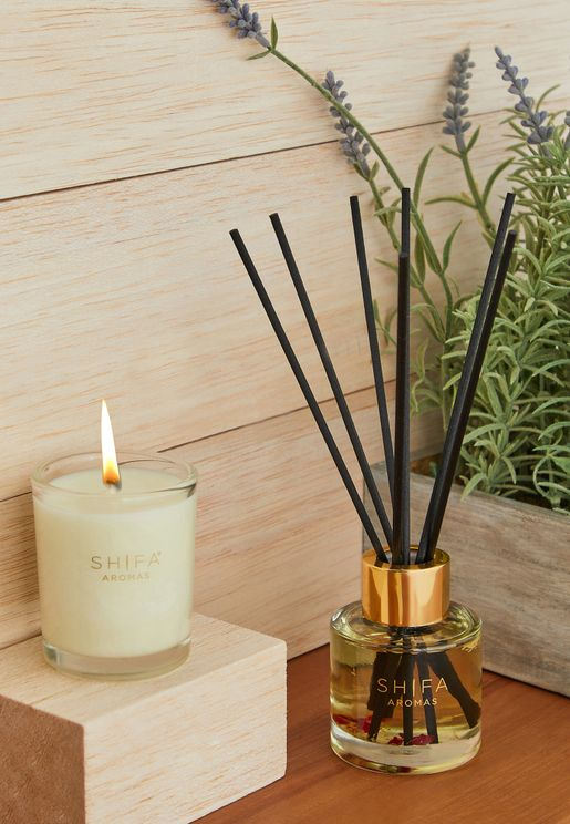 Jasmine, Rose & Frankincense Candle & Diffuser Set