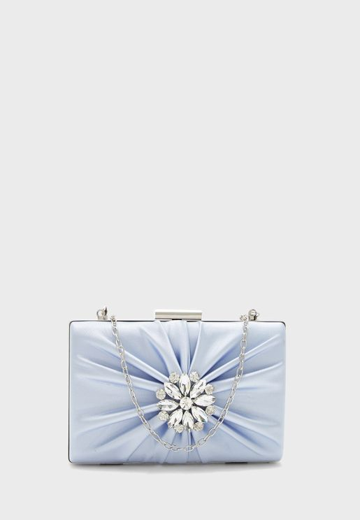 Ruched Patch Detail Clutch