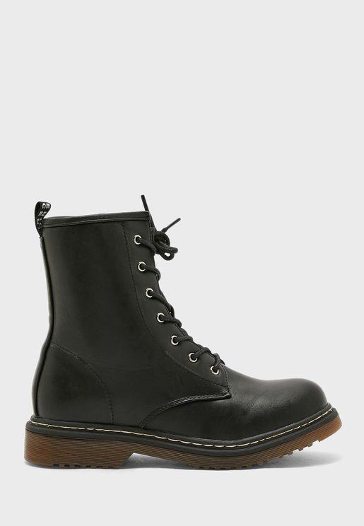 Patent Military Boot