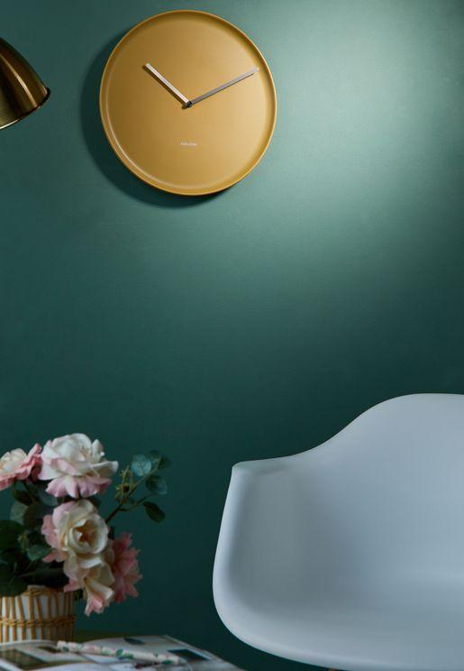 Porcelain Wall Clock Ochre Yellow