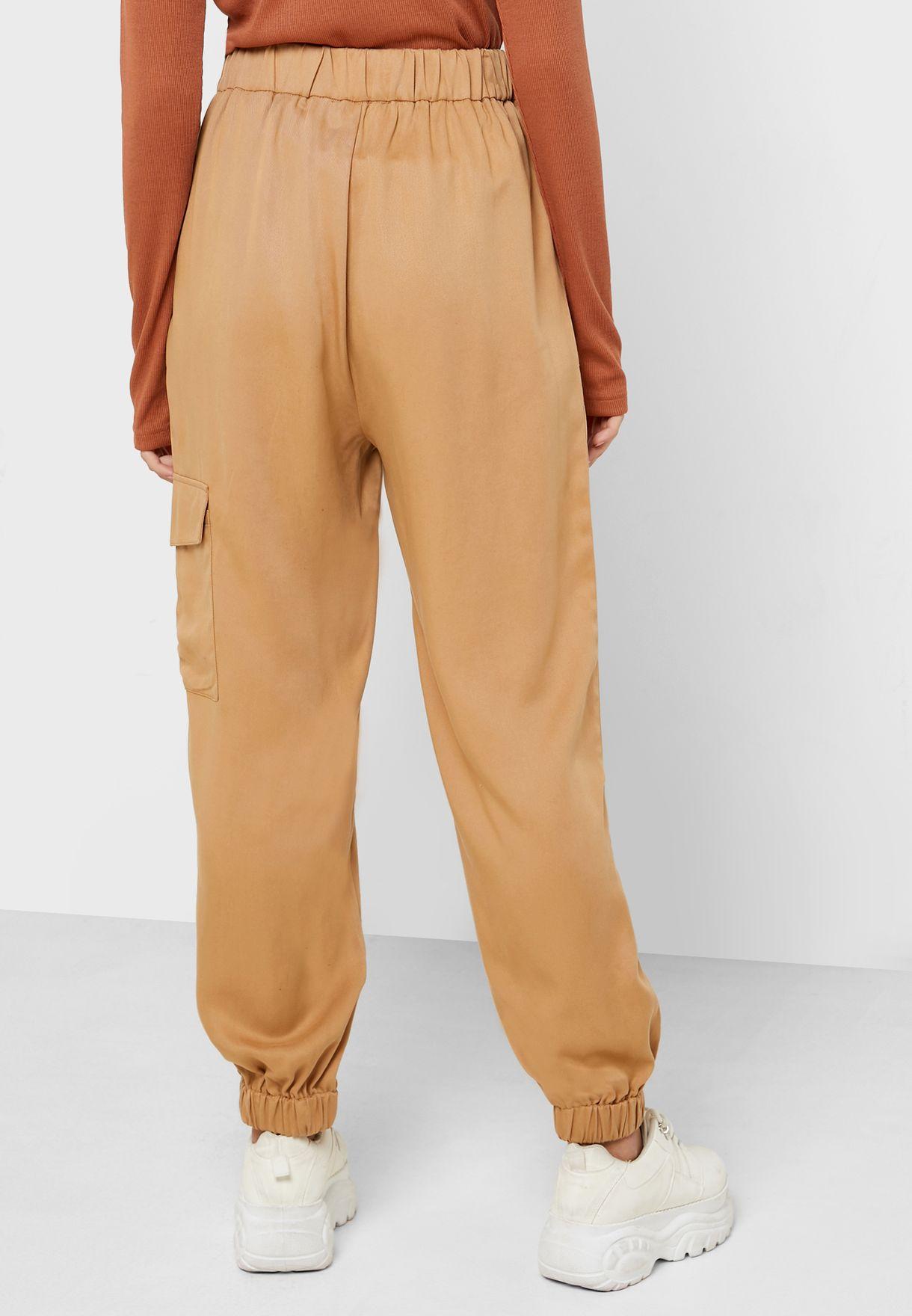 Tencel Cuffed Cargo Pants